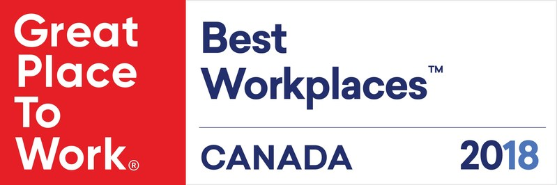 Logo: 2018 BEST WORKPLACE™ Badge (CNW Group/Symbility Solutions Inc.)