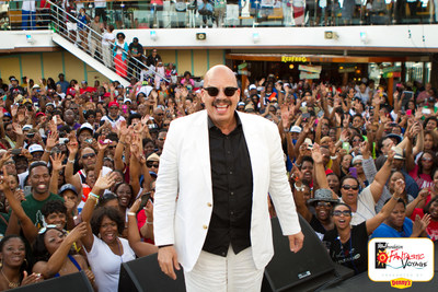 Tom Joyner, radio legend and philanthropist, sailing on the Carnival Breeze for the 19th annual Tom Joyner Foundation Fantastic Voyage presented by Denny's supporting students attending Historically Black Colleges and Universities. Launched in 1999, the cruise is the Ultimate Party with a Purpose serving as an entertainment fundraiser on the seas with the most popular artists in R&B, Soul, Hip-Hop, Gospel and more.