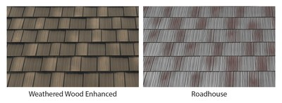Roadhouse and Weathered Wood Enhanced are two new unique colors available in EDCO's award-winning Infiniti Roofing line. Roadhouse gives a home or business a vintage appearance of weathered steel without the risk of degradation. Weathered Wood Enhanced will complement the many colors of a home exterior with its natural color tones.