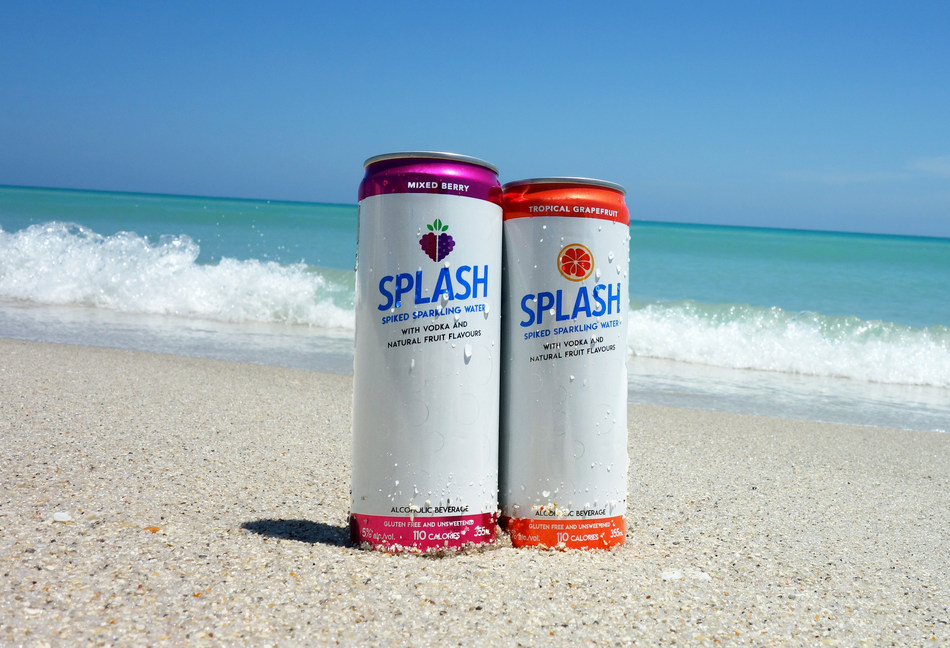 Light and crisp, SPLASH comes in two refreshing flavours: Mixed Berry and Tropical Grapefruit. A great choice for today's active lifestyles, SPLASH offers Canadians a convenient alcoholic beverage at 5 per cent ABV. With 110 calories per 355 mL serving there's no added sugar and no artificial sweeteners. It's also gluten free. (CNW Group/Squeez'd Beverages)