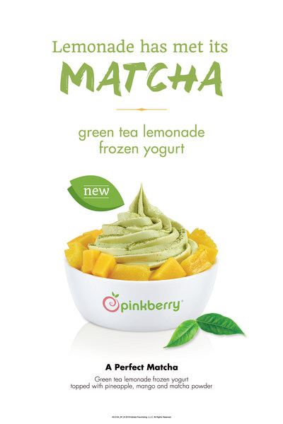 Pinkberry® announces the launch of a new flavor to kick off summer - Green Tea Lemonade frozen yogurt. The tart flavor is also featured as a combination called A Perfect Matcha that is paired with premium toppings, available now through June 21, 2018.