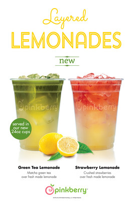 Pinkberry is offering a fun and refreshing new beverage line – Layered Lemonades, available in either Strawberry or Green Tea flavors.