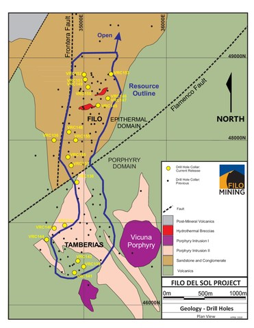 Filo Drill Hole Location Map (CNW Group/Filo Mining Corp.)