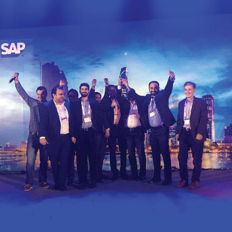 Uneecops Team Receives SAP Award (PRNewsfoto/Uneecops Technologies Limited)