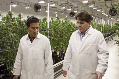 Brandon Rexroad, Shango Founder/CEO, and Dr. Sanjay Gupta tour the cultivation facility inside the Shango Las Vegas location. Marijuana is a natural and effective alternative to help people with chronic pain instead of taking addictive opioids that are costing millions of people their lives.