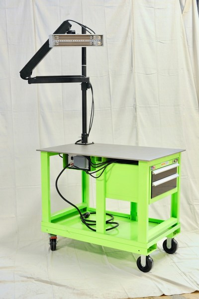 Light Wave Stripper mobile stripping cart for field use.
