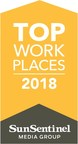 The Sun Sentinel Names Arise a Winner of the South Florida 2018 Top Workplaces Award