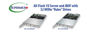 New Look All-Flash Supermicro 1U Systems with 32 Ruler NVMe SSDs