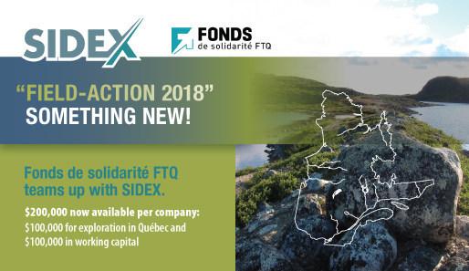 Fonds de solidarité FTQ and SIDEX Join Forces to Launch FIELD-ACTION 2018 (CNW Group/Fonds de solidarité FTQ)