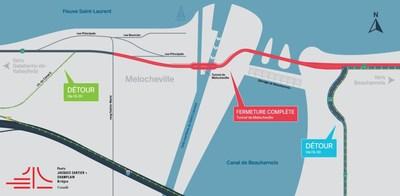 Entraves pour la fin de semaine du 27 avril (Groupe CNW/Ministère des Transports, de la Mobilité durable et de l'Électrification des transports)