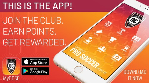 The new MyOCSC mobile app from Orange County Soccer Club launches today.