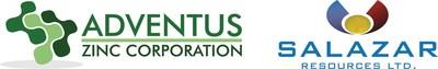 Adventus Zinc Corporation and Salazar Resources Limited (CNW Group/Adventus Zinc Corporation)