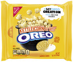 The delicious limited-time-only #MyOreoCreation Contest flavors are now available nationwide so fans can try all three and vote for their favorite at www.myoreocreation.com , choosing from Cherry Cola flavored OREO cookies, Kettle Corn flavored OREO cookies and Piña Colada flavored OREO Thins cookies.