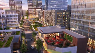 New urban walkable neighborhood, the Merriweather District, Downtown Columbia