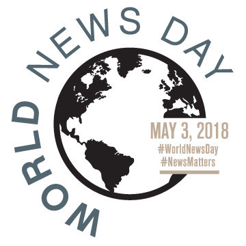 The Canadian Journalism Foundation launches World News Day on May 3 to celebrate the power of journalism in effecting change in people's lives. (CNW Group/Canadian Journalism Foundation)