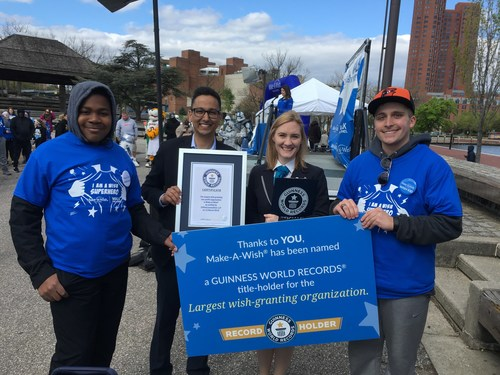 """Make-A-Wish declared """"World's Largest Wish-Granting Organization"""" by Guinness World Records"""