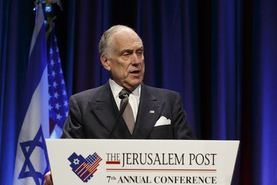 Ronald S. Lauder (Foto: Noa Grayevsky/Getty) (PRNewsfoto/Mr. Ronald S. Lauder)
