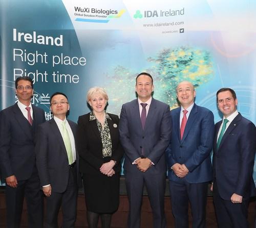 WuXi Biologics to Invest €325 Million to Build Largest Biomanufacturing Facility Using Single-Use Bioreactors in Ireland (PRNewsfoto/WuXi Biologics)