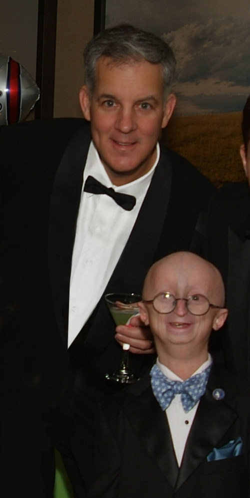 SAM Award recipient John Seng, shown here with Sam Berns at the HBO Life According to Sam premiere in 2013.