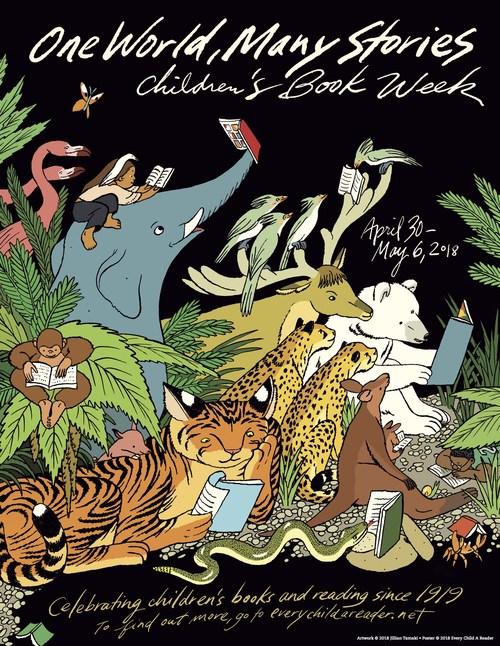 2019 Children's Book Week poster by Jillian Tamaki.