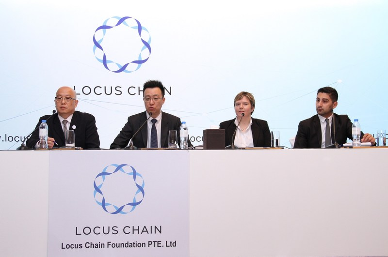From left: Mr. Jackey Choi, Director, Locus Chain; Sang Yoon, Lee, Managing Director & CEO; Professor Sally Eaves, Advisor, Locus Chain; Simon Zenios, Legal consultant, Locus Chain (PRNewsfoto/Locus Chain Foundation)