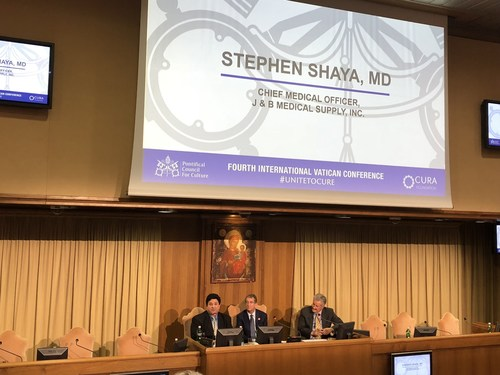 J & B Medical's Medical Director, Stephen Shaya M.D., speaks at the Vatican about extending the reach of healthcare.