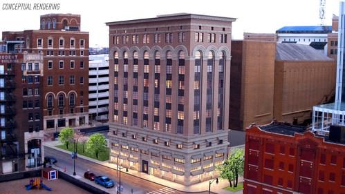 Conceptual Rendering: Detroit Life Building, 2210 Park Ave.