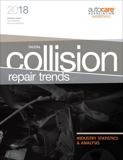 The 2018 Collision Repair Trends report provides in-depth insight into the U.S. collision repair sector of the auto care industry including the paint, body and equipment (PBE) industry, and also provides an overview of key industry trends in Canada.