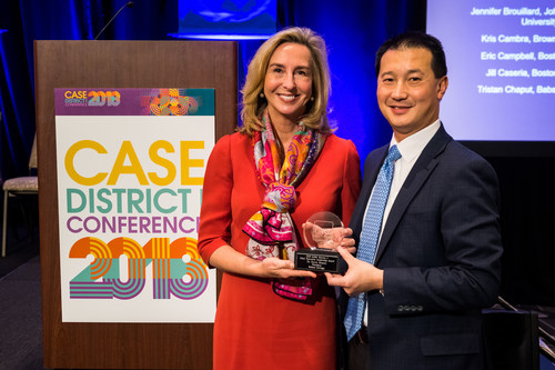 Babson College President Kerry Healey, left, and Babson Senior Vice President for Advancement Edward Chiu.