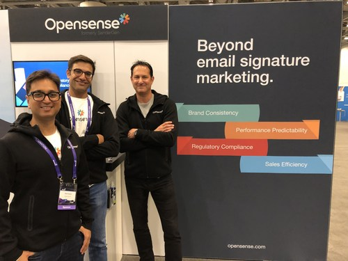 Opensense co-founders, left to right: Amit Gupta (CEO), Bobby Narang (VP Sales), Michael Perone (EVP)