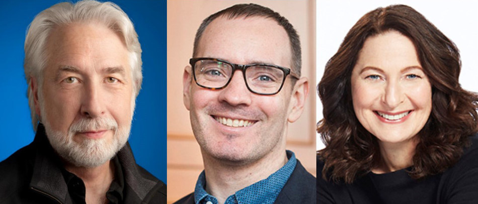 Richard Gingras, vice-president of news for Google, and Craig Silverman, media editor for BuzzFeed News, will be in conversation with Anna Maria Tremonti, host of CBC Radio's The Current for the May 2 Canadian Journalism Foundation J-Talk on Building Trust in Media at the Google Toronto. (CNW Group/Canadian Journalism Foundation)