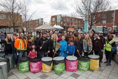 Torchefest 2018 : Dévoilement de la campagne propreté pour MHM. (Groupe CNW/Ville de Montréal - Arrondissement Mercier - Hochelaga-Maisonneuve)