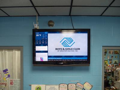 Mvix Digital Signage Engages Families at Massachusetts Boys & Girls Club
