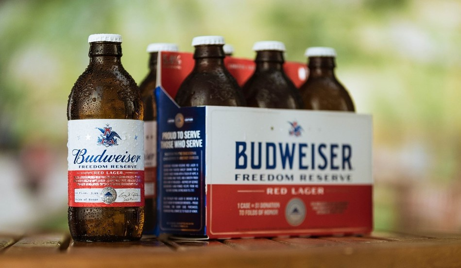 Budweiser Freedom Reserve Red Lager is brewed with toasted barley grains for a slightly sweet aroma with a touch of hops, a rich caramel malt taste and a smooth finish with a hint of molasses.