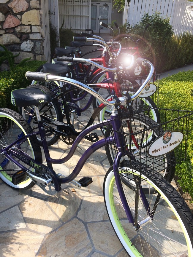 Rental bikes available by the hour at the Inn at Morro Bay.