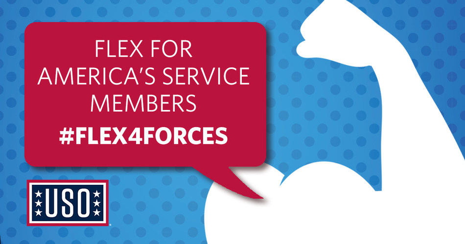 The USO Invites America to be a Force Behind the Forces with #Flex4Forces.