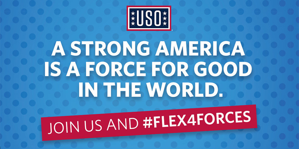 #Flex4Forces is a campaign that invites Americans to show their support for service members by flexing their biceps on social media and inviting others to do the same.