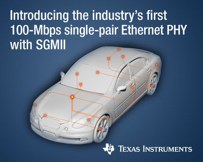 Introducing the industry's first 100-Mbps single-pair Ethernet PHY with SGMII