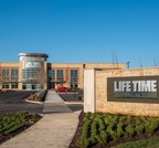 Exterior picture of the front entrance at Life Time Princeton
