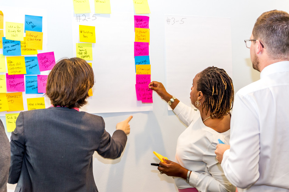 Lynn University students, staff, faculty, alumni and administrators engaged in design thinking to establish priorities through the year 2025.