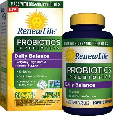 Renew Life Probiotics + Organic Prebiotics Daily Balance