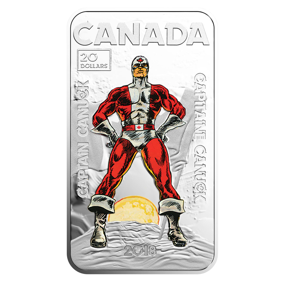 The Royal Canadian Mint's Captain Canuck silver collector coin (CNW Group/Royal Canadian Mint)