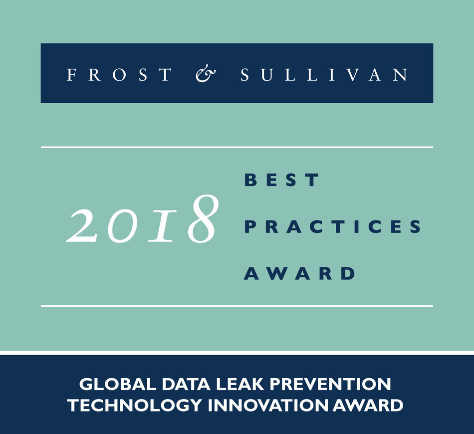 Frost & Sullivan recognizes GhangorCloud with the 2018 Global Technology Innovation Award for its fourth generation (4G) data leak prevention (DLP) Information Security Enforcer (ISE) technology. (PRNewsfoto/Frost & Sullivan)