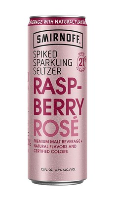 New 90 calorie, zero sugar Raspberry Rosé SMIRNOFF Spiked Sparkling Seltzer hits shelves just in time for summertime.