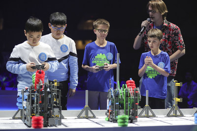 Finalists compete during the VEX IQ Challenge World Championship at VEX Worlds 2018 in Louisville, KY.