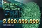 DERMALOG high-speed fingerprint comparison with 3.6 billion matches per second. (PRNewsfoto/DERMALOG Identification Systems)