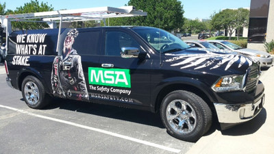 """As part of MSA's week-long safety """"blitz"""" – now in its fifth year – MSA will provide free, OSHA-compliant fall protection demonstrations at construction jobsites across the U.S utilizing MSA's fleet of mobile training vehicles."""