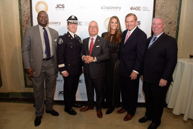 Mr. Lewis Rice, Camden Chief of Police Scott Thomson, Mr. Richard S. Kendall, Stephanie Winston Wolkoff, Governor Tom Ridge