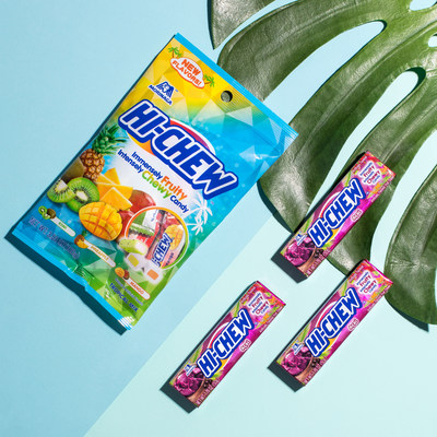 Enjoy a flavor-cation with the launch of new HI-CHEW™ Açaí and HI-CHEW™ Tropical Mix.