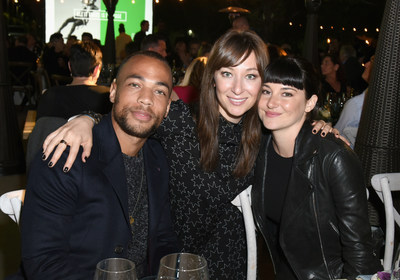 CYPRESS, CA - APRIL 28: (L-R) Actors Kendrick Sampson, Isidora Goreshter and Shailene Woodley attend the All It Takes Lasting Legacy event at the headquarters of Earth Friendly Products (ECOS) to celebrate youth leadership on April 28, 2018 in Cypress, CA. (Photo by Vivien Killilea/Getty Images for All It Takes)